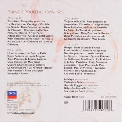 Poulenc Melodías Completas Pascal Rogé 4 Cds
