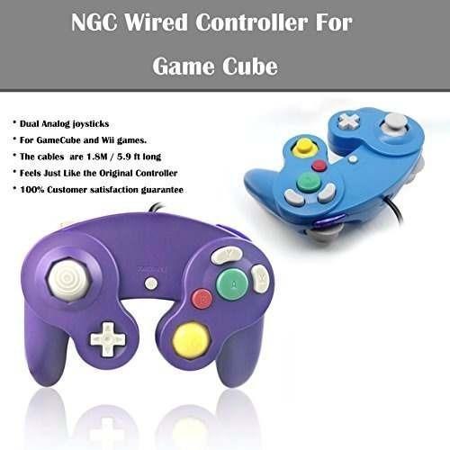 poulep 2 packs clásicos controladores gamepad con conexión d