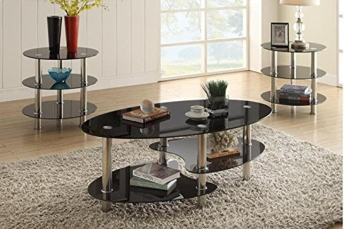 poundex f3054 mesa de centro y dos laterales + envío gratis
