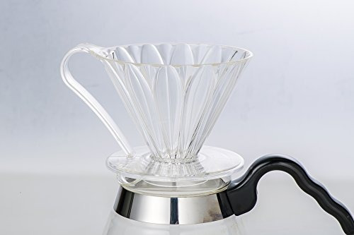pour over coffee dripper de sanyo sangyo: 1 a 4 taza flower-