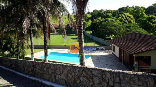 pousada com 22 dormitórios à venda, 20289 m² por r$ 3.800.000 - mar do norte - rio das ostras/rj - ch0006
