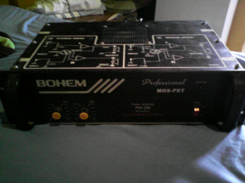 power amplificador bohem pw- 280 usado 600w  barato
