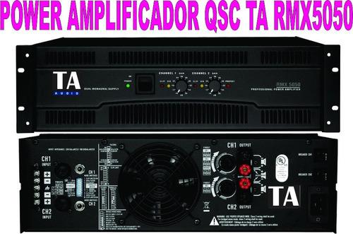 power amplificador de la linea qsc ta