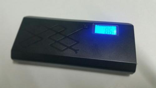 power bank 12000 mah batería externa 2 usb para cargar