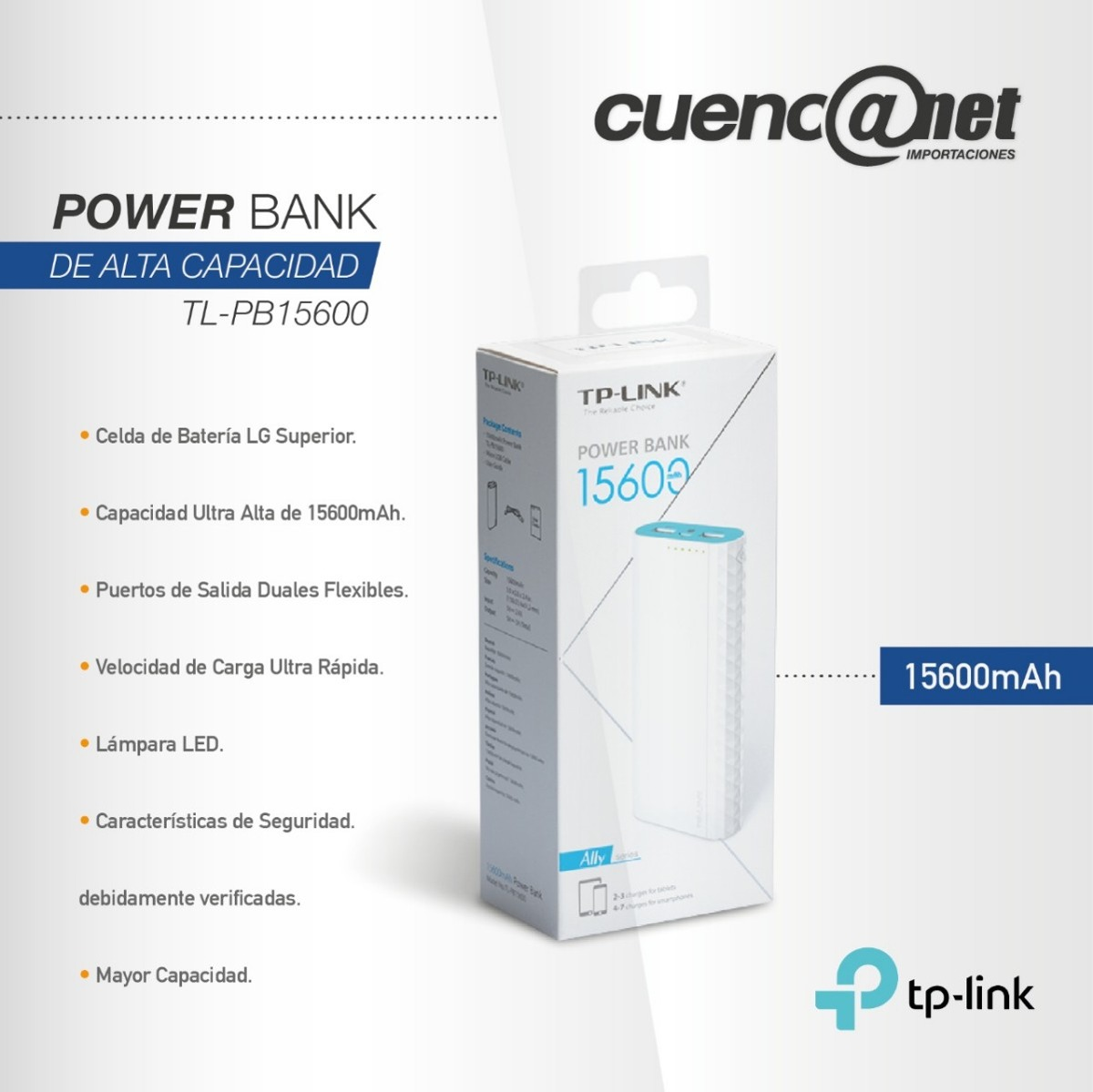 Power Bank 15600 Tp Link Us 4200 En Mercado Libre Powerbank Ally Series Cargando Zoom