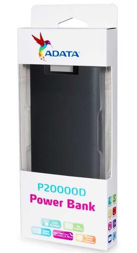 power bank 20000mah adata p20000d bateria externa celular