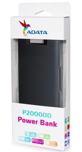power bank 20000mah adata p20000d cargador bateria portatil