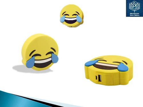 power bank batería de respaldo emoji risa