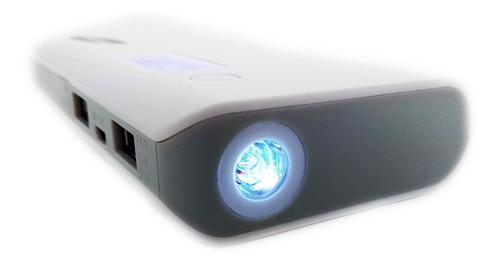 power bank bateria externa  lcd 20000mah2 puertos + linterna