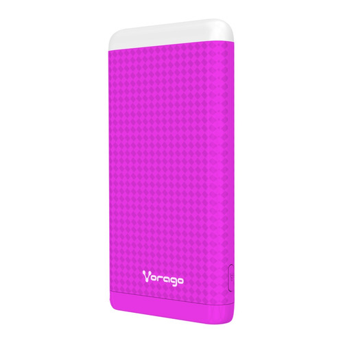 power bank bateria portatil 10000mah 2 usb vorago pb-400 rs