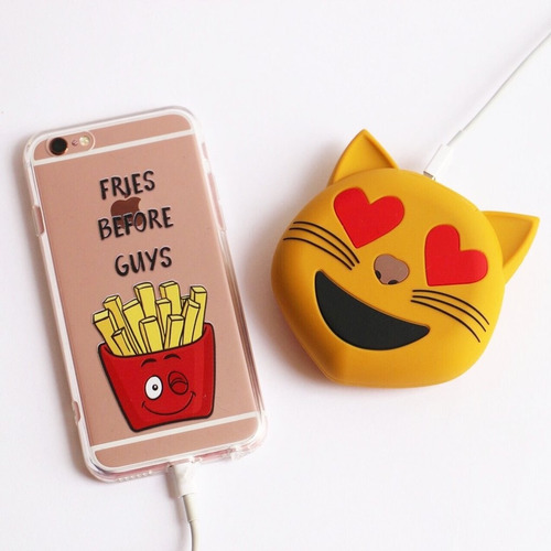 power bank batería portátil emoticones - emojis 2600 mah
