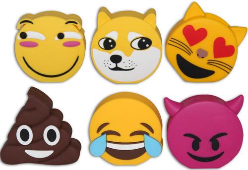 power bank batería portátil emoticones - emojis 2600 mah