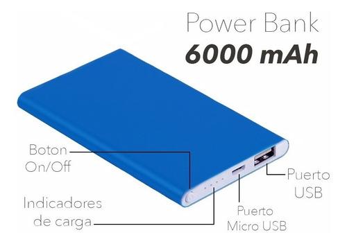 power bank carga rapida 6000mah cargador portatil
