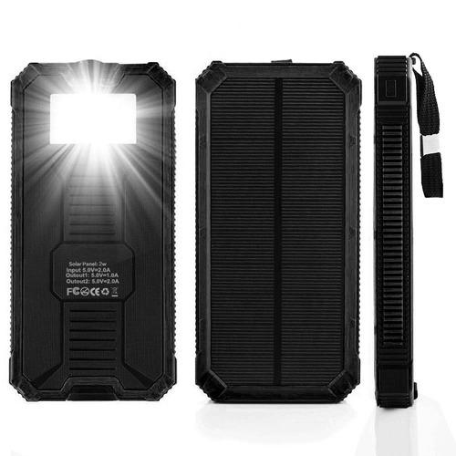power bank cargador batería externa panel solar 12000mah