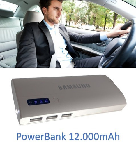 power bank cargador portátil batería externa de 12000mah led