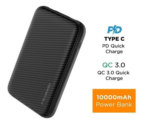 power bank dual usb con qc3.0 y pd 10.000mah. carga rápida, power delivery