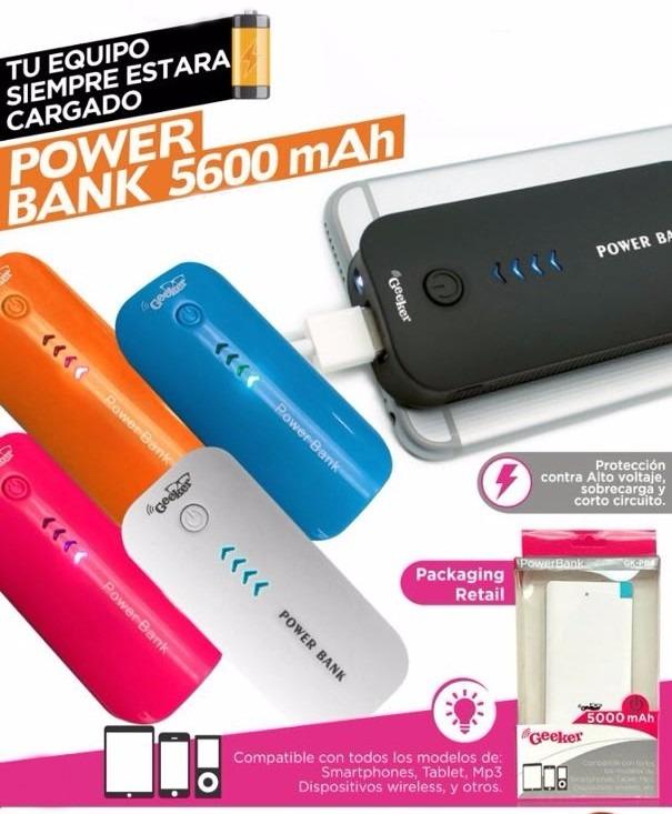 b3d7295545e Power Bank Externo Cargador Portatil Celular Real 5600 Mah - $ 450 ...