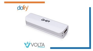 power bank ghia gac-0017 blanco/gris 2000mah envío gratis