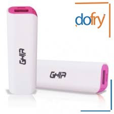 power bank ghia modelo gac-018 blanco con gris 2000mah