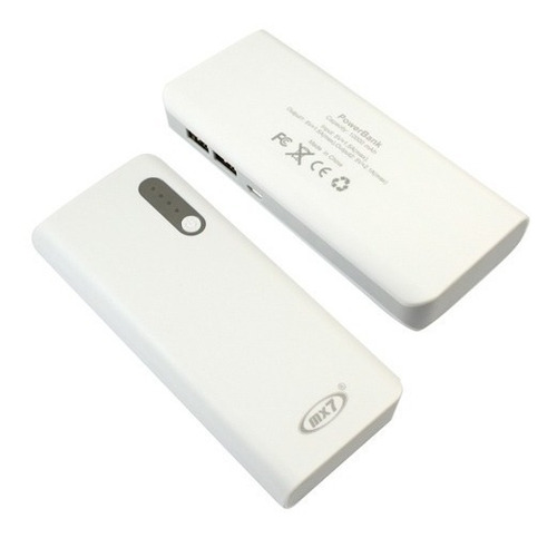 power bank mx7 6000ma blanco (incluye cable y linterna).