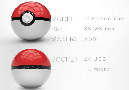 power bank pokebola master ball 12000 mha