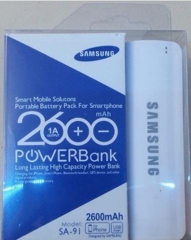 power bank samsung 2600mahh mod: sa-91 cargador