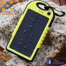 power bank solar con linterna 5200 mha