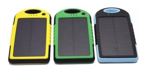 power bank solar de 5.000 mah con linterna+dos puertos usb