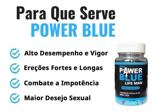 power blue life man força azul - 120 cápsulas - promoção
