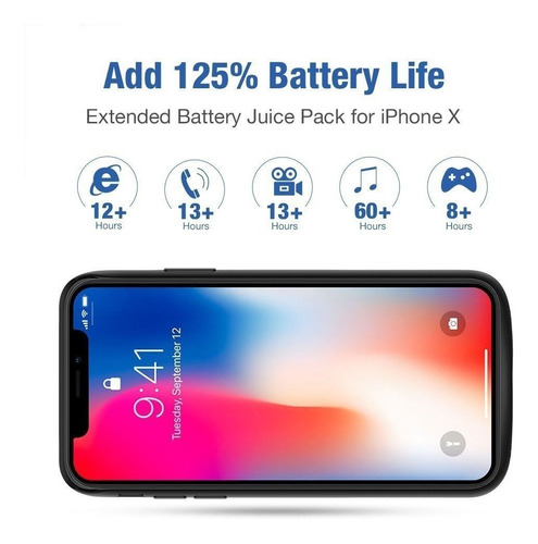 power case de iphone x / 6000 mah