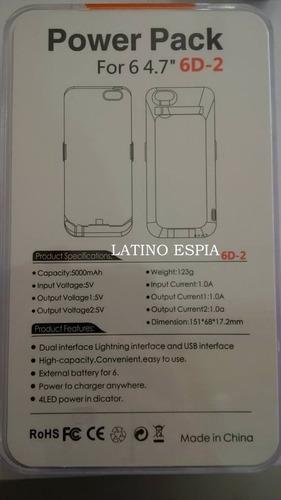 power case para iphone 6 y 6s de 5000mah somos tienda lince