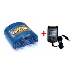 Power Click - Amplificador De Fone Color Azul + Fonte Ps01