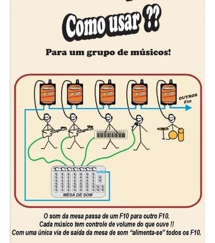 power click p/ fone individual f10 retorno + fonte original