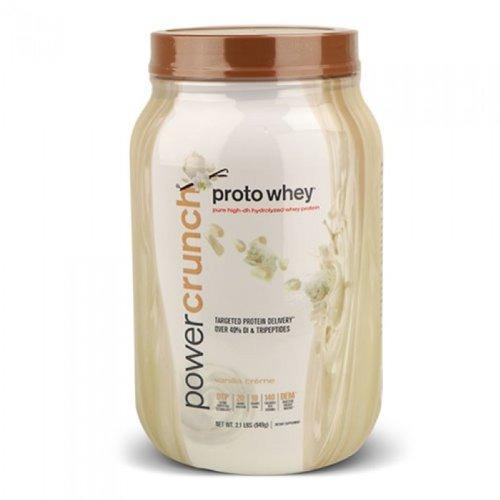 power crunch whey protein,vanlla creme, 2 lb
