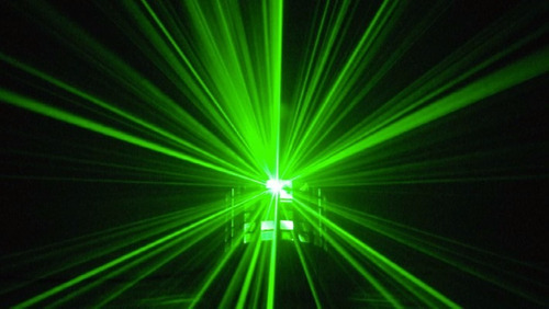 power derby efecto led  30w rgbw laser remoto luces dj esdj