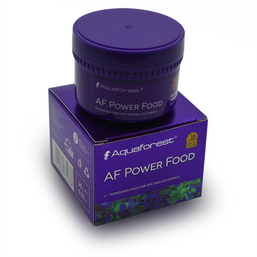 power food 20g aquaforest alimento para corais sps lps softs