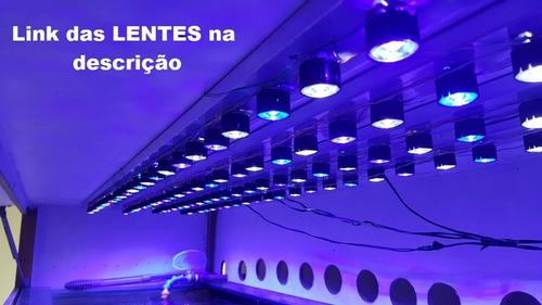 power led 3w várias cores uv branco royal aquário +dissipado