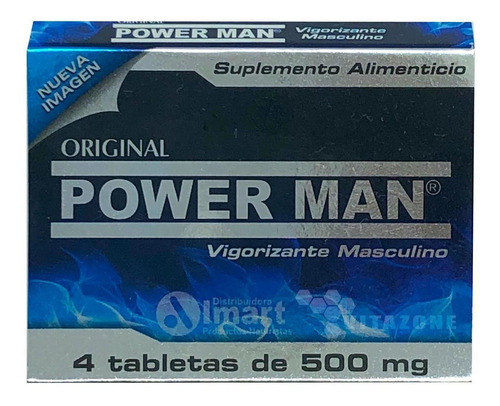 power man 4 tabletas de 500 mg original