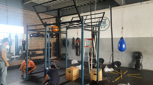 power rack half movil gym crossfit sentadillas dominadas
