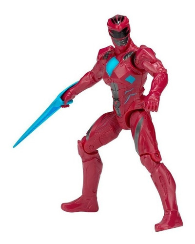 power ranger rojo figura básica de accion articulada 13 cm