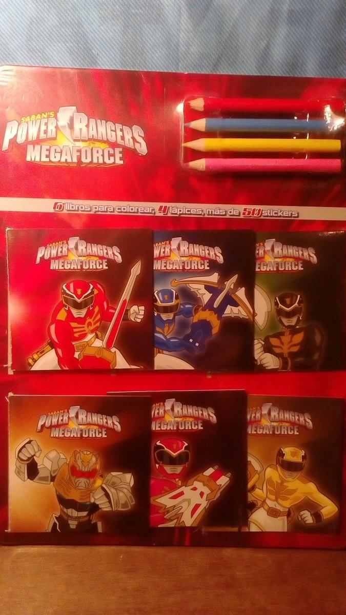 Power Rangers. 6 Mini Libros Para Colorear. - $ 3.500 en Mercado Libre