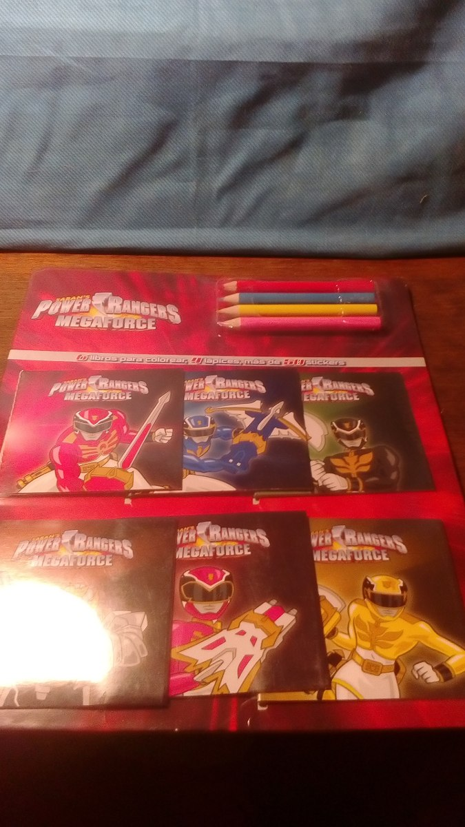 Power Rangers. 6 Mini Libros Para Colorear. - $ 3.500 en Mercado Libre