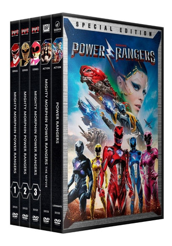 power rangers coleccion dvd serie + peliculas