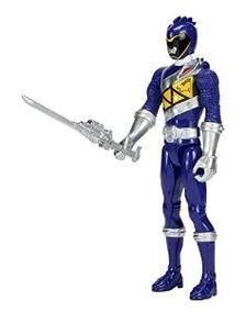 Power Rangers Dino SUPER CARGA-Dino-Acero Azul Ranger Figura 12.5cm