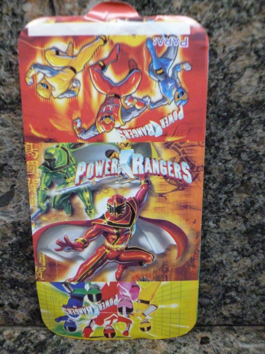 Power Rangers Tarjetas De Invitacion Para Cumpleaños Set 6