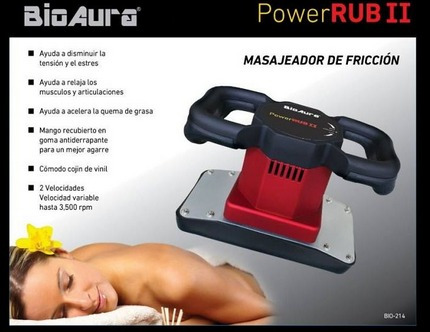 power rub/ masajeador de cojin amplio para zonas amplias