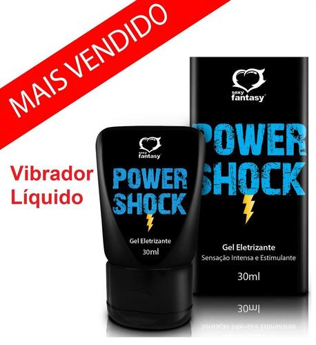 power shock gel eletrizante 30 ml - sexy fantasy vibrador