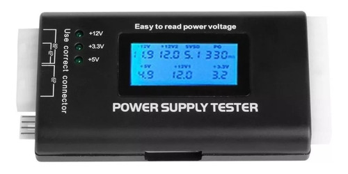 power supply tester - testador digital fonte pc +350 vendas