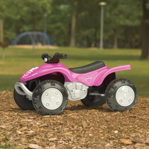 power wheels american plastic toy girls trail runner atv