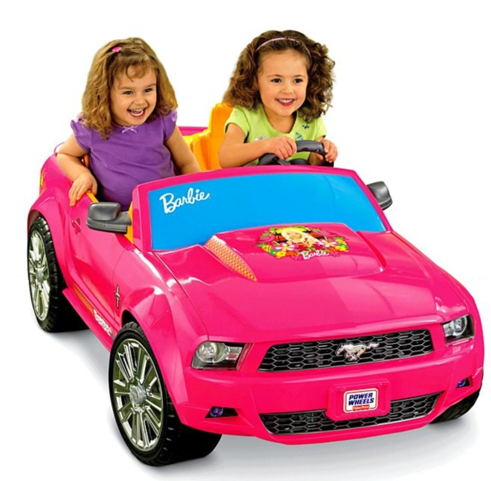 Power Wheels Barbie Ford Mustang Carro Electrico Juguete